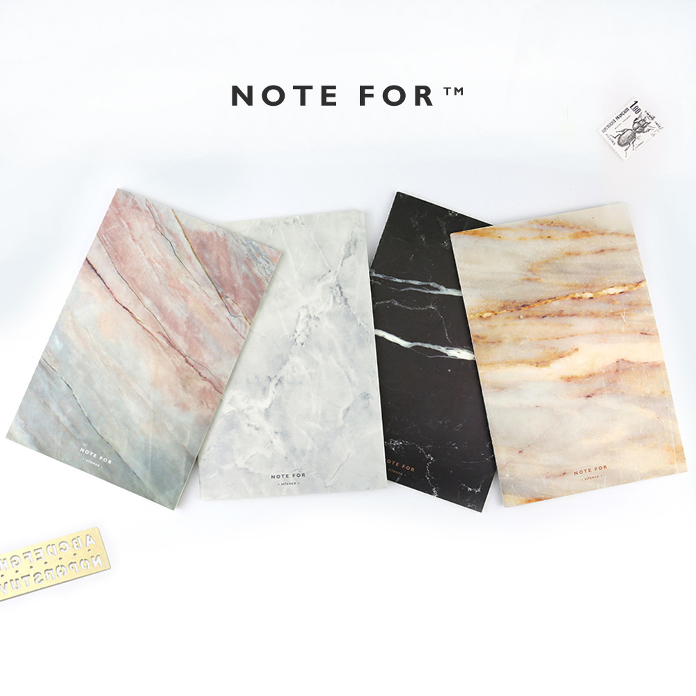 Office & School Supplies Notebooks 4pcs/lot Japanese Cute Note For Silence Marble Designs Soft Cover A5 Notebook Lines Composition Diary Stiching Binding