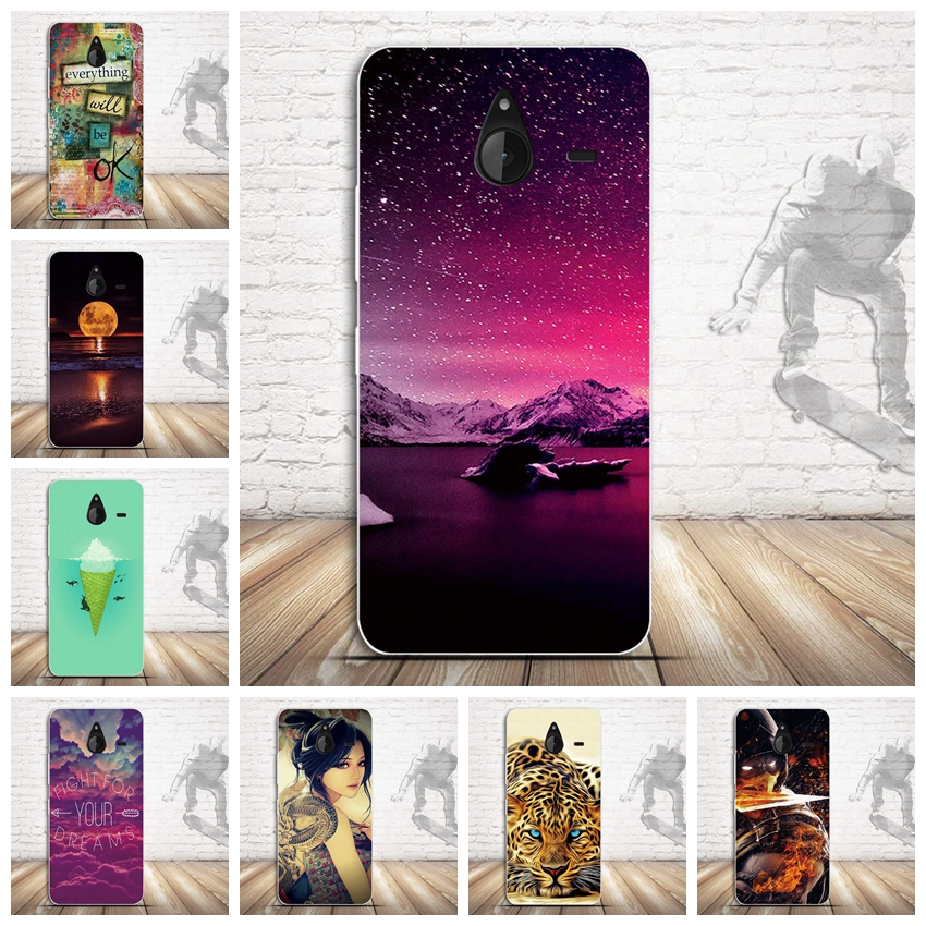 Paining Phone Cover Case for Microsoft Nokia Lumia 640XL 640 XL Capa Skin Shell Soft TPU Back Cover for Nokia 640XL Silicon Case image