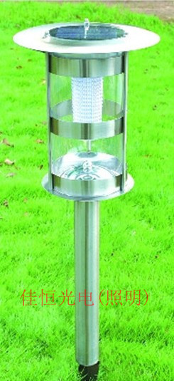 Solar lawn light led stainless steel lamp garden lights outdoor lamp villa lamp free shipping free shipping crack ball solar lamp vintage garden lawn colorful led light solar charging panel lamps1004