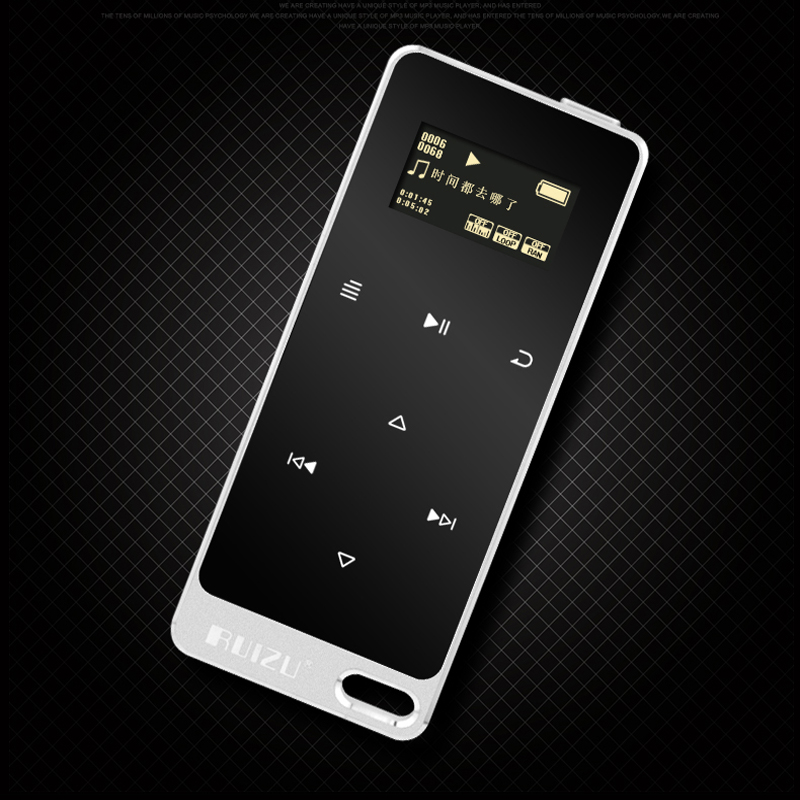 RUIZU X05 Metal HIFI MP3 Player with 8GB storage and Screen Touch button play 100h high quality Lossless sound quality sport mp3