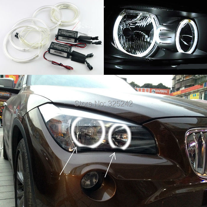 For BMW X1 E84 2010 2011 2012 2013 2014 Non projector headlight Excellent CCFL Angel Eyes