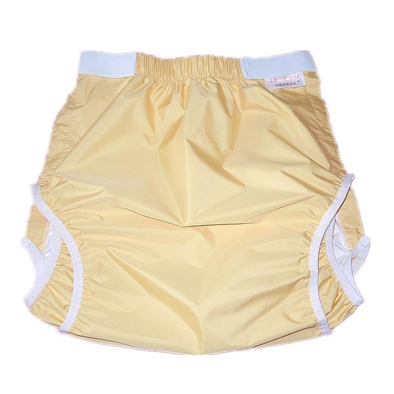 Free Shipping FUUBUU2228-YELLOW Waterproof Pants/Adult Diaper/incontinence Pants /Pocket Diapers