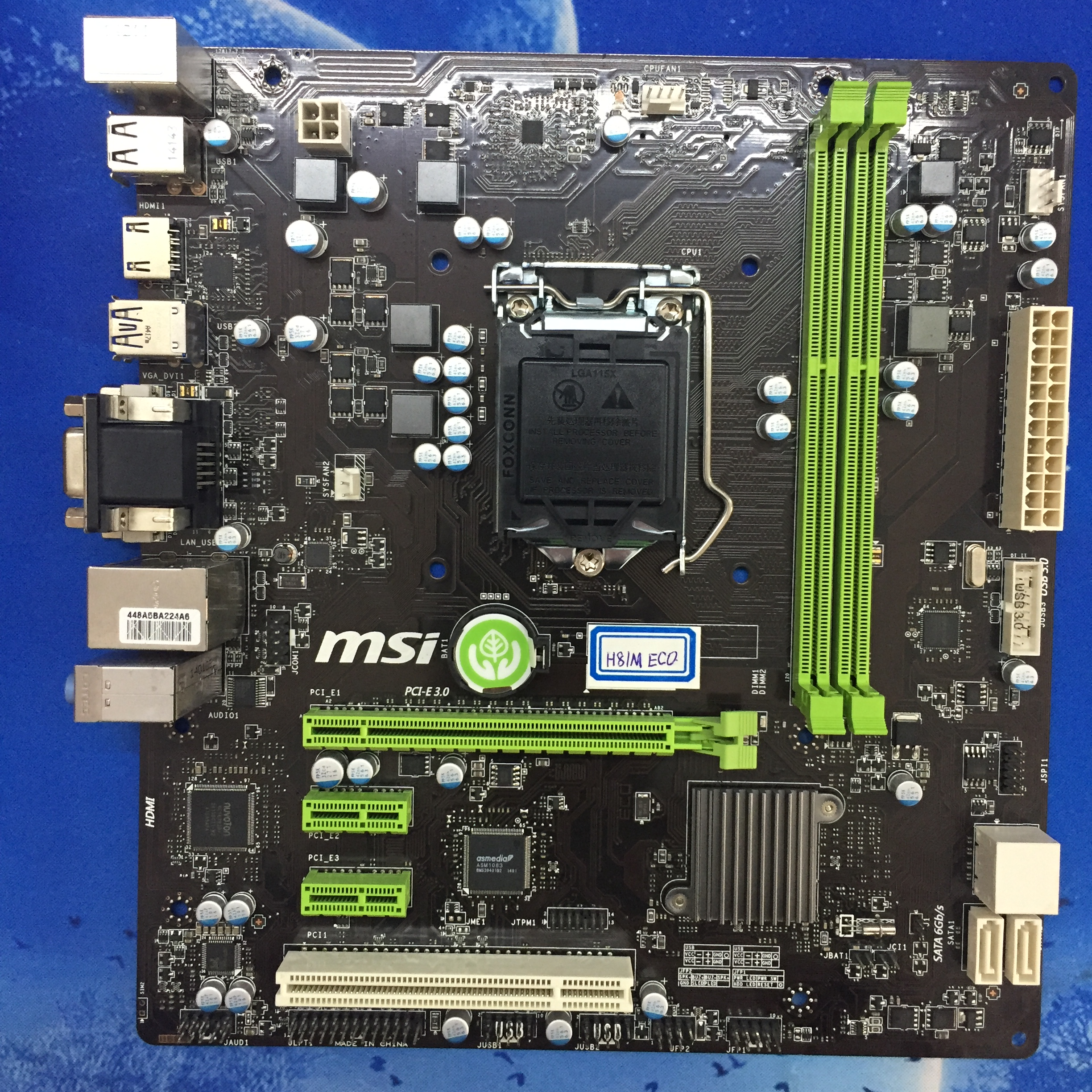 MSI H81M ECO Low-Power, Energy-Efficient H81 Motherboard 1150-pin Motherboard msi h110m eco
