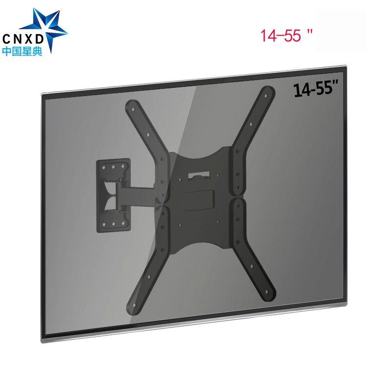 Support TV mural moniteur LCD bras d'extension de montage mural inclinaison pour la plupart des écrans plats TV de 25