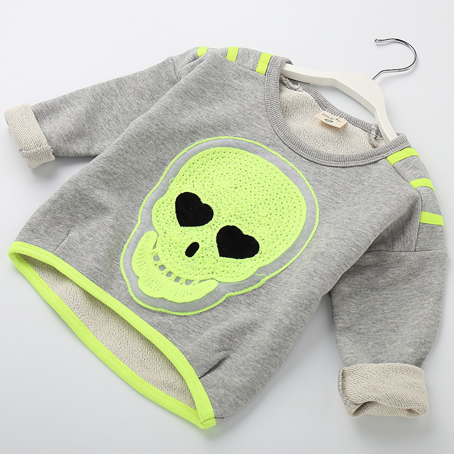 Hot Sale 2018 Kids T Shirts For Girls O Neck Skull Design Children T