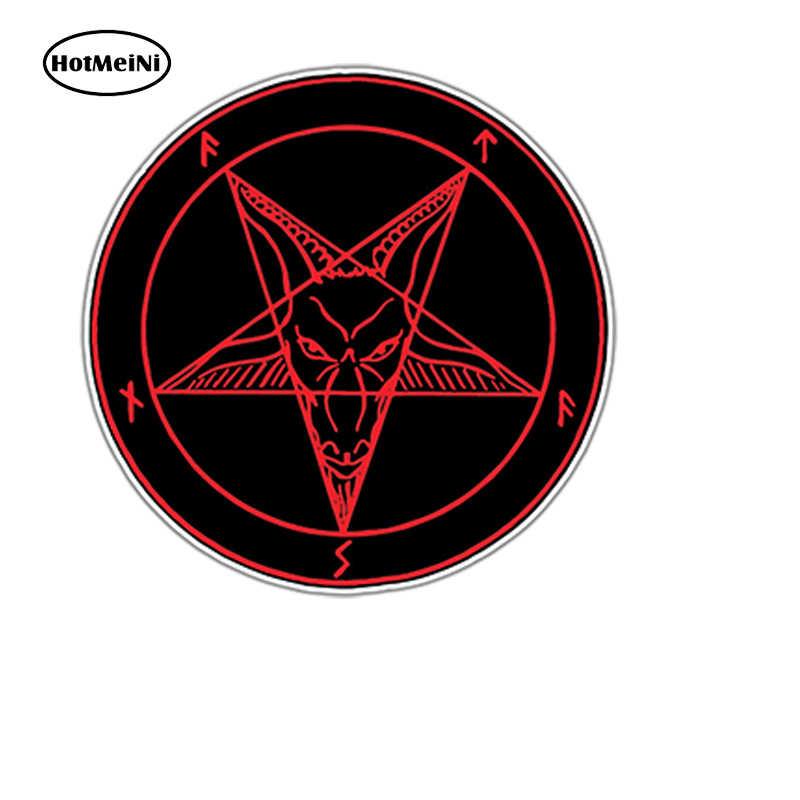4ab23a04f HotMeiNi 13X13cm Sigil of Lucifer Satan Devil Demon Evil Hell Bumper Vinyl  Decal Car Sticker Waterproof