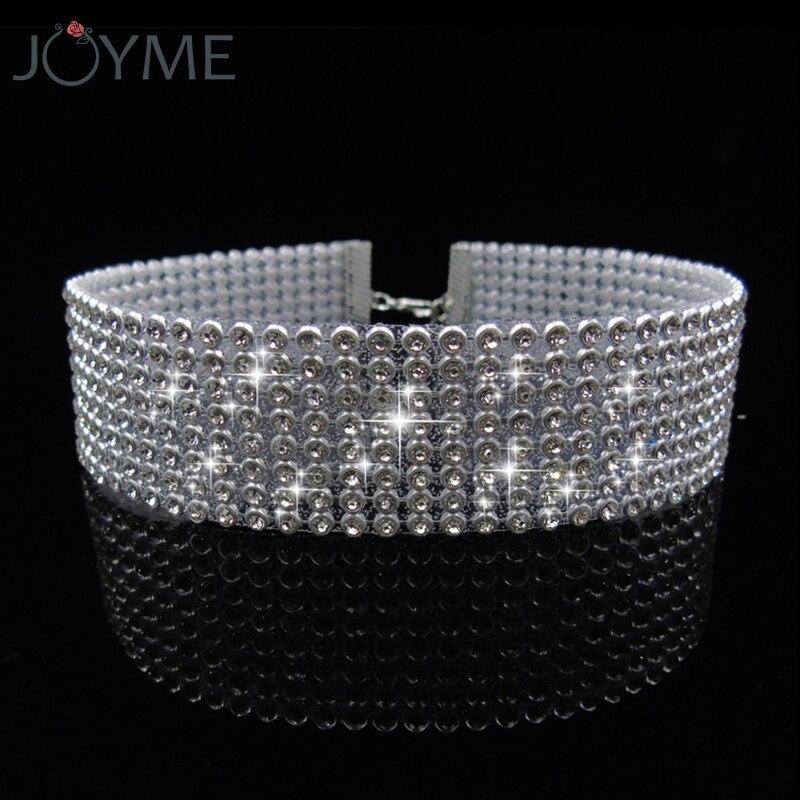 Luxury Choker Full White Rhinestone Crystal Fashion Necklace Chokers Necklaces For Women Wedding Jewelry