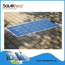 Solarparts 1pcs 100W semi flexible rollable solar panels solar modules for RV Boat Golf cart Marine