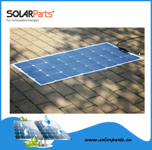 Solarparts 1pcs 100W semi- flexible rollable solar panels solar modules for RV/Boat/Golf cart/Marine/Yachts/Home use