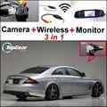 3 in1 Специальная Камера + Беспроводной Приемник + Зеркало Монитор DIY Система парковки Для Mercedes Benz CLS Class W219 C219 MB 2004 ~ 2011