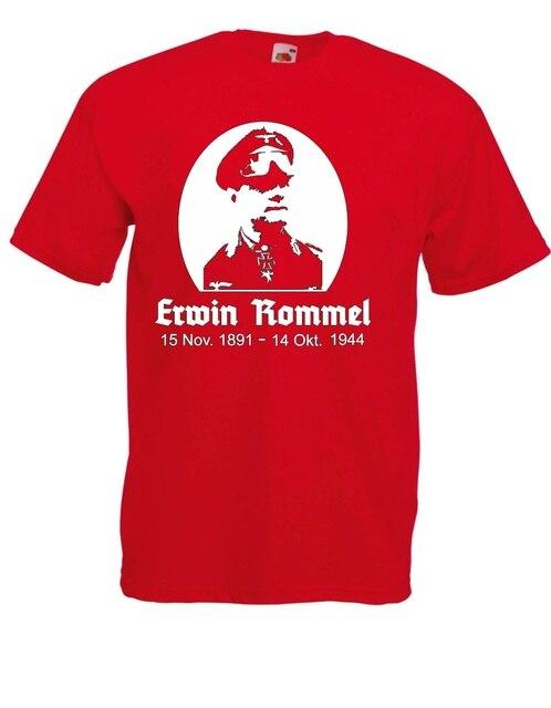 Erwin Rommel Men Cotton Classical Street Wear Personalized T Shirts5