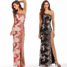 MUXU backless sequin glitter womens clothing vestido plus size party dresses strapless designer runway 2018 high quality