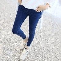 2017 mulheres grávidas calças jeans pés pequenos calças lápis abdominais calças compridas