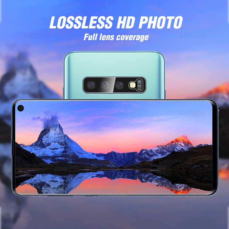 2 piezas Akcoo S10 Plus película de cristal 9H Hardess para Samsung Note 10 Pro protector de lente de cámara para S7 8 9 Plus note 8 9 película