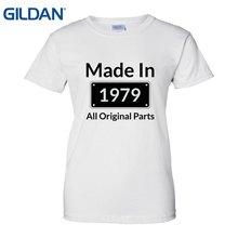 Made 1979 All Birthday Gift Zomer T Shirt Designer Tee Shirts Top Quality Women
