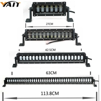 Single Row 10 17 24 32 42 50 52 straight Double Beam LED Light Bar Offroad Led Bar Combo Beam Led Work Light Bar 12v 24v