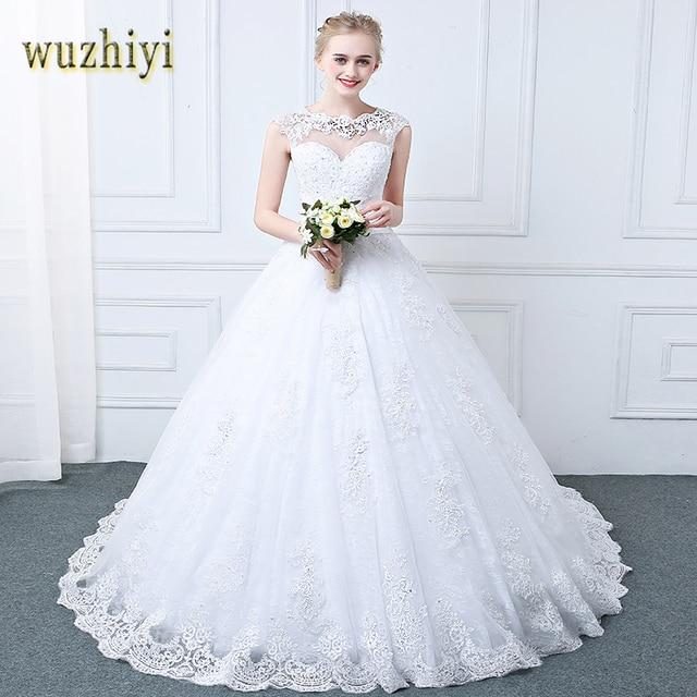 wuzhiyi Vestido de noiva 2018 zipper ball gown wedding dresses robe mariage  Princess Scoop Casamento Robe de Mariage Trouwjurk b8ce4f891ae8