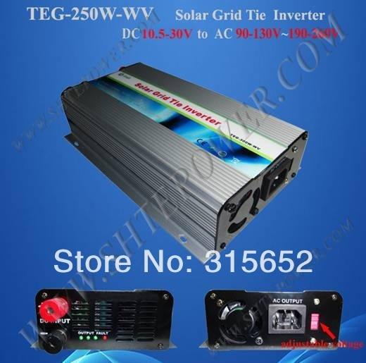 250W Micro Solar Grid Tie Inverter DC 10.5V-30V to AC 110V solar power on grid tie mini 300w inverter with mppt funciton dc 10 8 30v input to ac output no extra shipping fee
