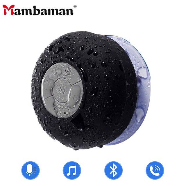 Mambaman Mini Bluetooth Speaker Portable Waterproof Wireless Handsfree Speakers, For Showers, Bathroom, Pool, Car, Beach & Outdo