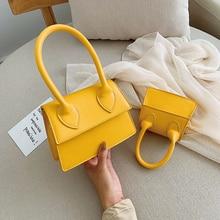 Fashion Pure PU Leather luxury handbags women bags designer bolso mujer bags for women 2019 sac main femme yellow crossbody bags