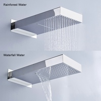 BECOLA Two Ways Waterfall Rain Shower Head Wall Mounted Stainless Steel Shower Faucet BR 9909
