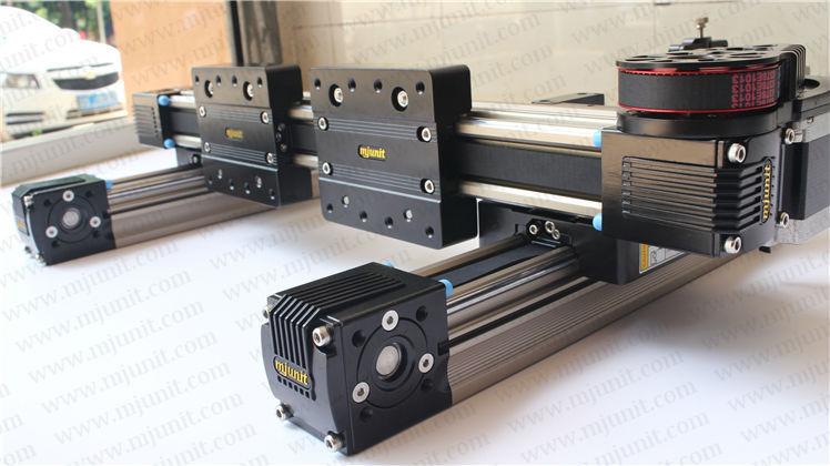 Belt driven long travel linear slide Linear Motion Ball Slide Unit Guide ball linear rail guide roller shaft guideway toothed belt driven