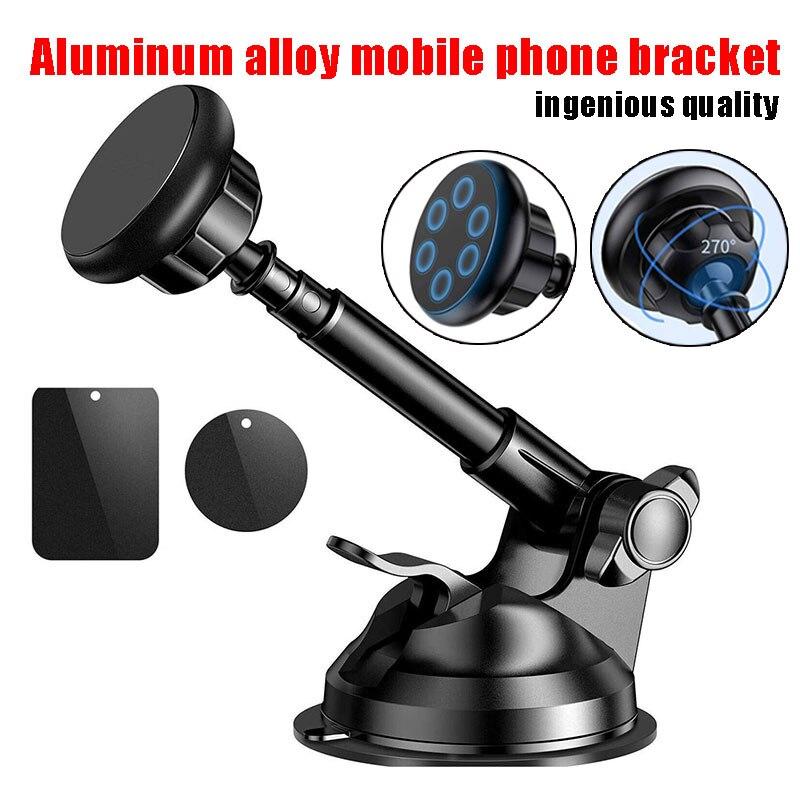 Soporte de teléfono magnético Universal para iPhone X/8/7/Plus soporte de teléfono de Samsung para el parabrisas del coche soporte para Salpicadero con cuna