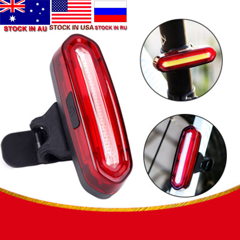 Dropshipping Rear Bike Light Taillight Safety Warning USB Rechargeable Bicycle Light Tail Lamp Comet LED Cycling Bicycle Light