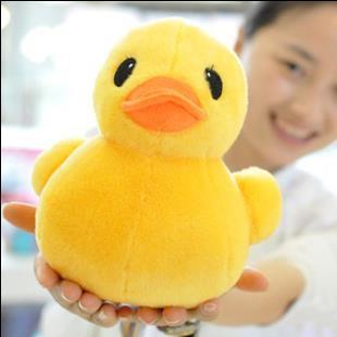 Hot Sale 1pcs 20cm New Arrival Stuffed Dolls Rubber Duck Hongkong Big Yellow Duck Plush Toys Gifts for Kids toys
