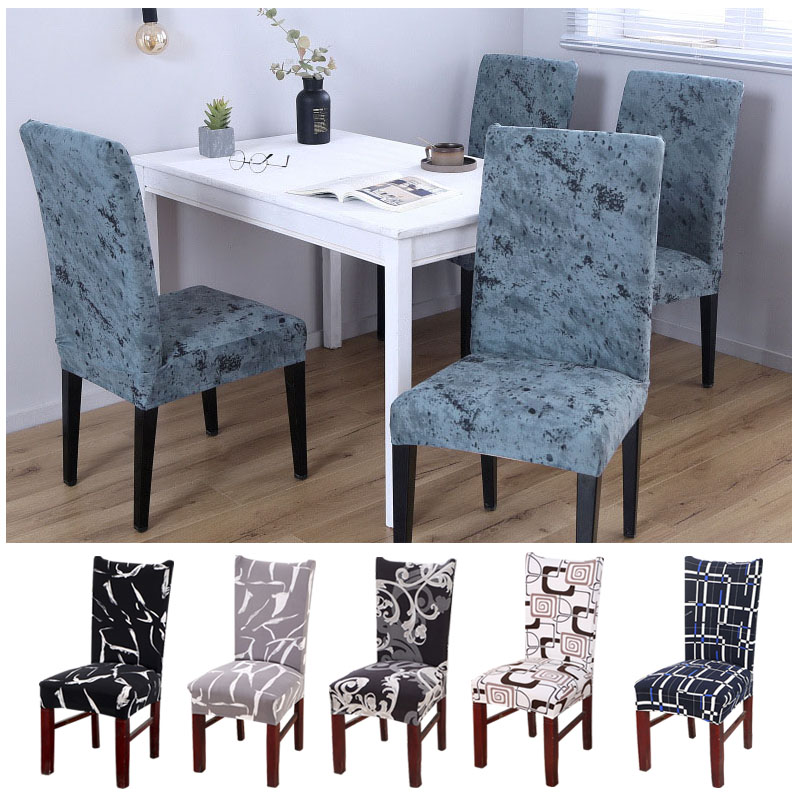 Elastic Dining Chair Cover Stretch Removable Anti-dust Seat Cover Protector Cover Party Banquet Seat Cases Stoelhoezen Eetkamer