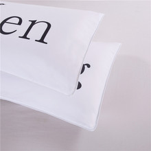 Queen King Crown White His and Hers Couples Pillowcases Set Standard 50x75cm Valentine's Day Wedding Anniversary Gift
