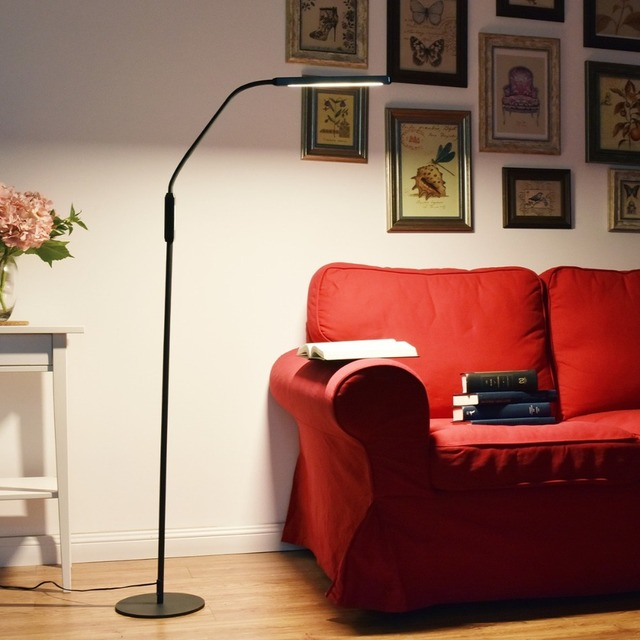 Nordic Eye Protective Led Gooseneck Floor Lamp 8w 5 Color Modes Modern Reading For