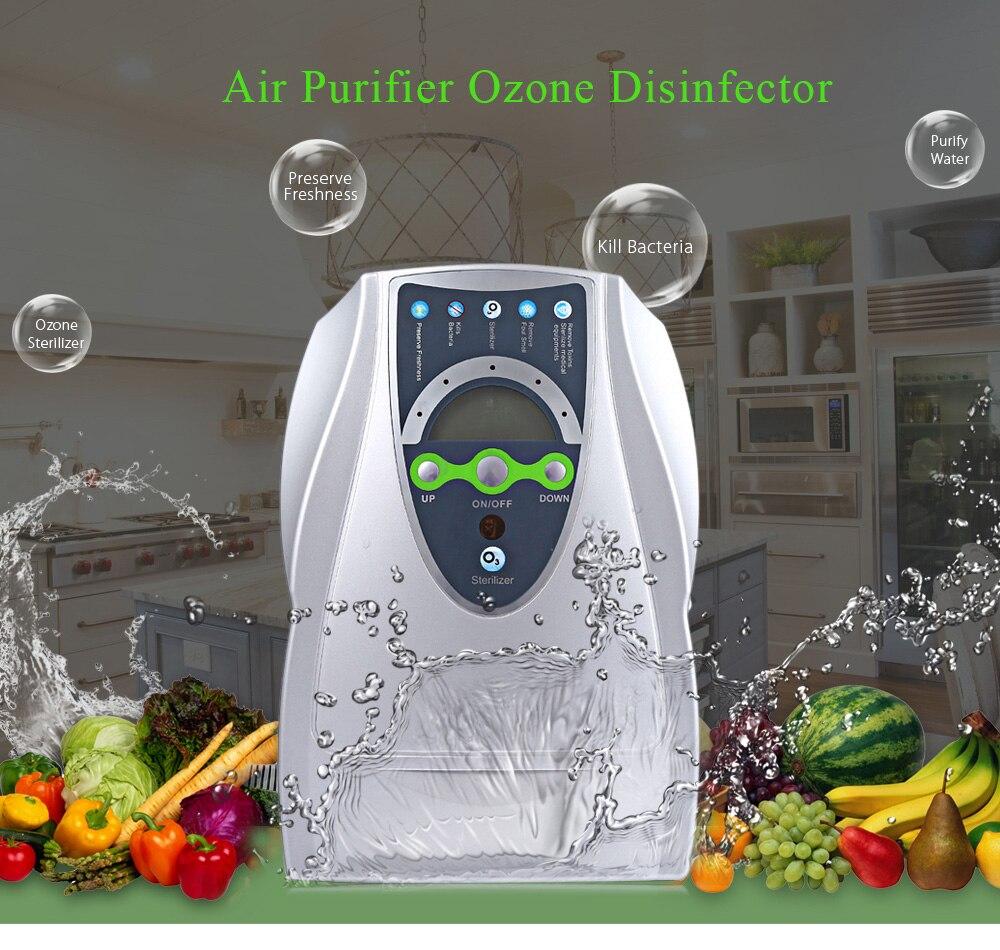 Nouveau Ménage Générateur D'ozone Purificateur D'air Portable Air Ozone Désinfecteur pour Fruits Légumes Stérilisation avec L'UE/US Plug