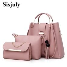 3 шт./компл. для женщин сумки кожа на плечо женский большой ёмкость повседневное сумка кисточкой сумки-мешки и Sac Femme