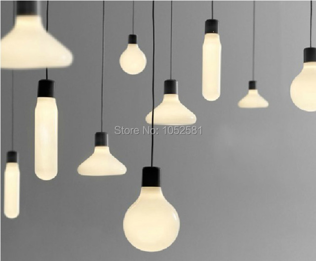 White modern glass pendants lights restaurant hanging bar lights white modern glass pendants lights restaurant hanging bar lights pendant lighting fixture designer fashion lamps with aloadofball Choice Image