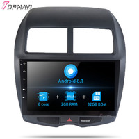 2 din 10.1 Inch Android 8.1 Auto Car GPS Player Radio For Mitsubishi ASX 2013 Stereo Car Vehicle Navigation with map Multimedia