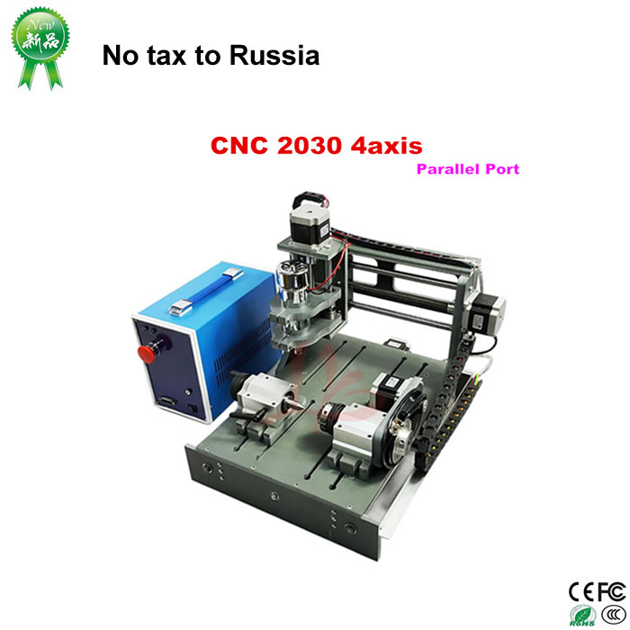 No tax to russia& Ukraine, 4 axis cnc router 2030 300w engraving drilling machine for pcb cutting cnc 5axis a aixs rotary axis t chuck type for cnc router cnc milling machine best quality