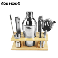 9Pce/Set Stainless Steel Bar Set Bartender Set Cocktail Shaker Set Hand Shaker Drink Fancy Jug Wine Mixer Party Brewing Kit