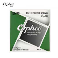 Guitar Ukulele Strings Orphee QK90 024-026 Crystal Nylon Line Music Wire Set 4pcs/set Ukulele Accessories