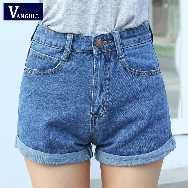 High Waist Denim Shorts Plus Size XL Kvinner Kort Jeans for Women 2016 Summer Ladies Hot Shorts