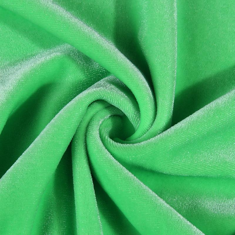fenda lateral sem alças e coração neon verde veludo para clube