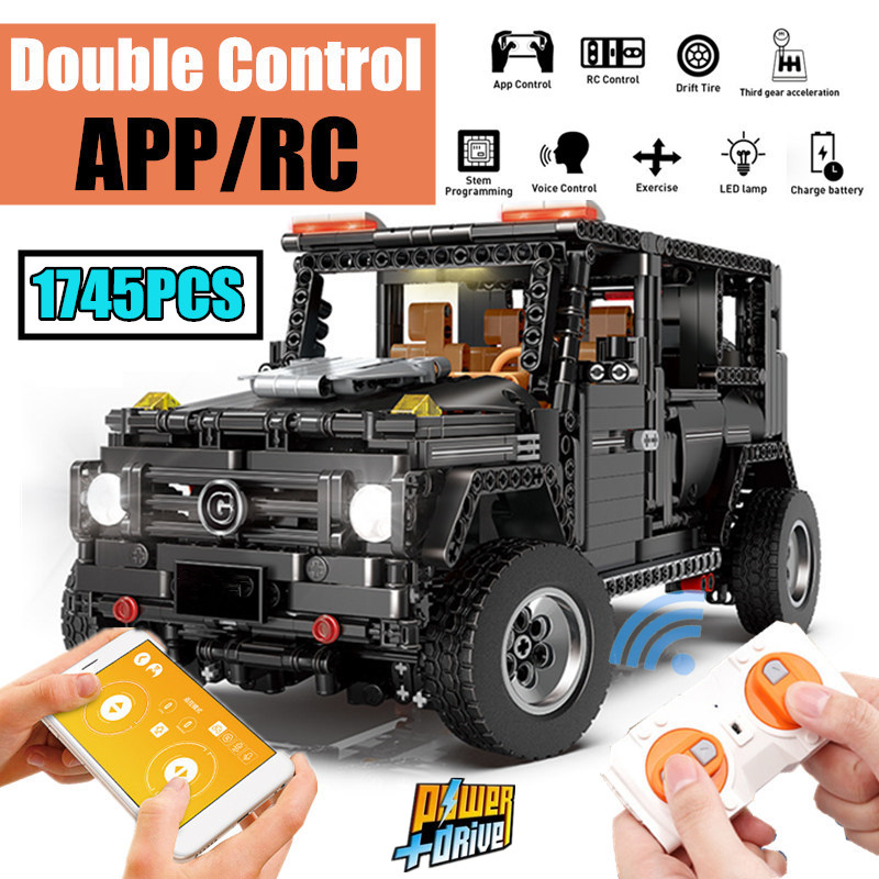 New APP RC G Glass G500 AWD Wagon SUV Vehicle fit Technic MOC 2425 Motor Power Function Building Blocks Bricks Toy kid-in Blocks from Toys & Hobbies    1