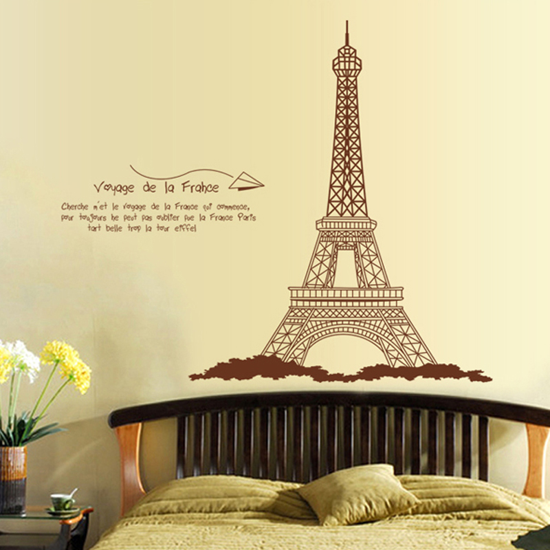 The Eiffel Tower Self Adhesive Removable Wall Stickers Home ...
