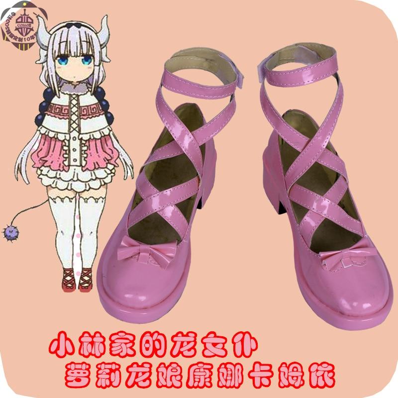 [Customize] Anime Maidragon Kanna cosplay shoes size 35-47 NEW PU leather made free shipping 2017