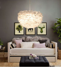 White Nature Goose Feather Pendant Lights Romantic Cafe luminaire lighting Fixtures living room hotel hall bedroom hanging lamp romantic crystal fairy colorful shell pendant lamp lights fixtures for cafe bar hall club store restaurant balcony bedroom hotel