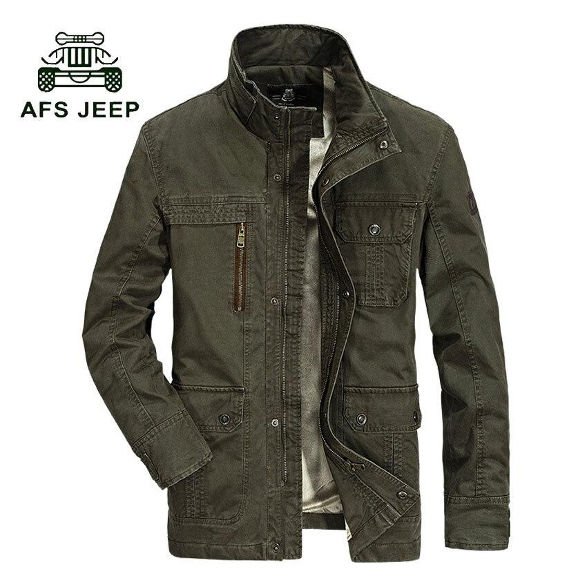 AFS JEEP Jacket Brand Clothing Jaqueta Masculina Army Windbreaker Casaco Masculino Military Mens