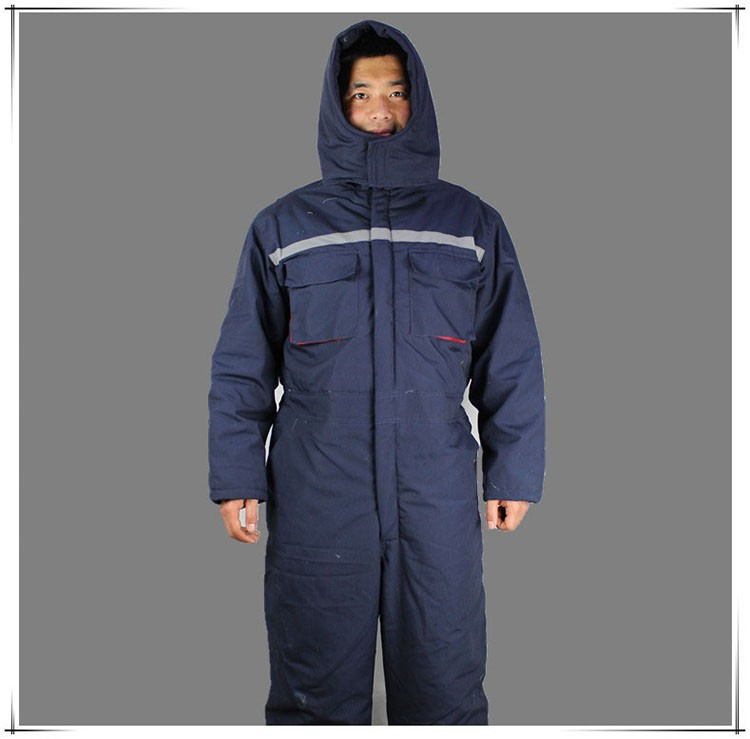 CCGK Winter working clothing Men wadded padded safety clothing outdoor work wear thicken warm protective reflective overalls (7)