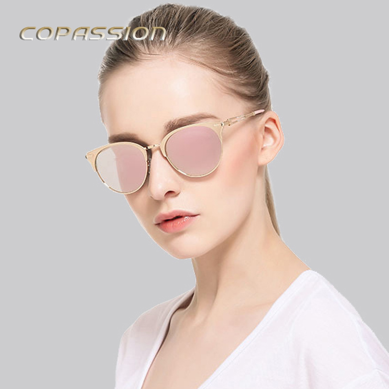 Fashion Trendy Polarized Sunglasses Women men Vintage Brand Designer Rose Gold Cat Eye Sun glasses mens Oculos De Sol Feminino