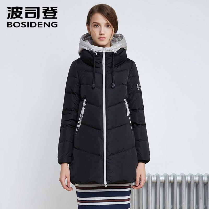 BOSIDENG winter down coat down jacket long down park winter thick warm outwear hood high quality fashion high quality B1601250N цена