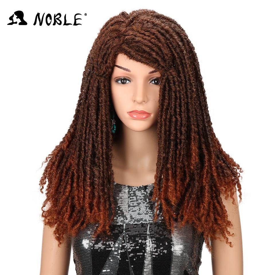 Ädelhår studs lockigt långa peruker för kvinnor 22 tums blandad - Syntetiskt hår